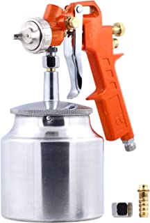 Finder Siphon Feed Spray Gun With 25oz Cup 1.5mm Nozzle Double Adjustable Screw Knob For Fine Spraying Painting