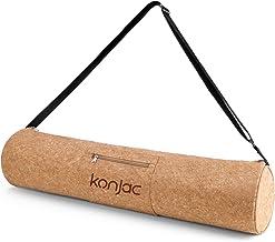 konjac Bolsa Esterilla Yoga con Bosillo, Funda esterilla yoga , Correa ajustable, Material 100% natural, Yoga Mat Bag