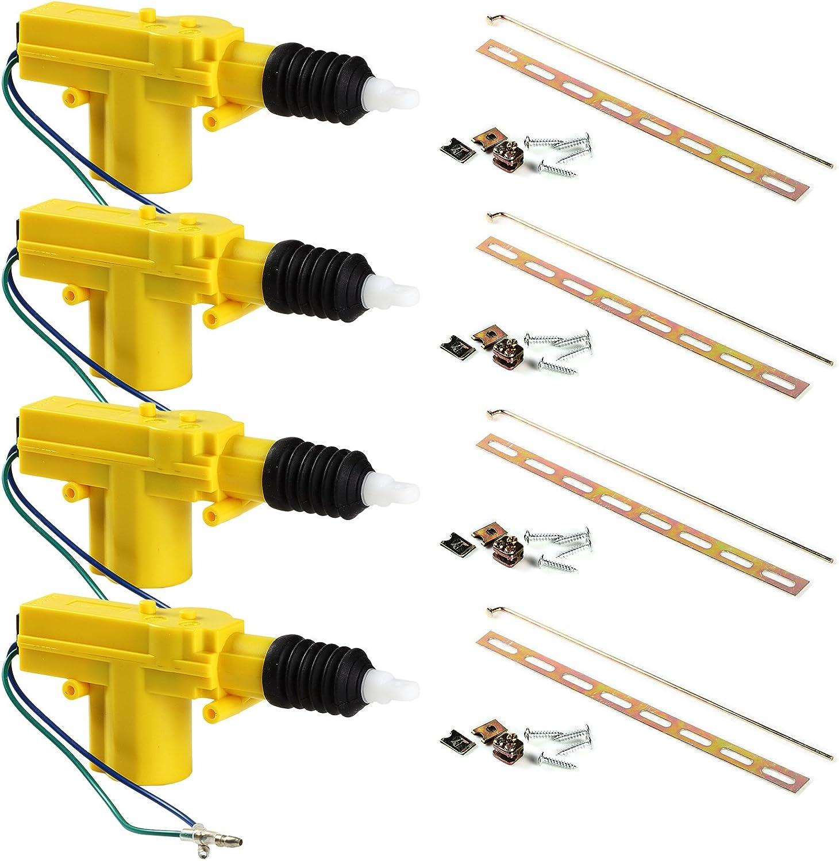 Universal Car Power Door Lock Actuator 12-Volt Motor (4 Actuator