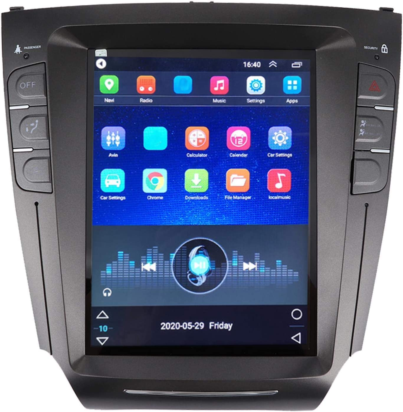 Car GPS, 10.4in Car Radio Stereo GPS Navigation System Portrait Fit for IS200 IS250 IS300 IS350 2007 ‑2015