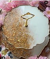 Etagere gold resin weiß Obstschale deko Tablett