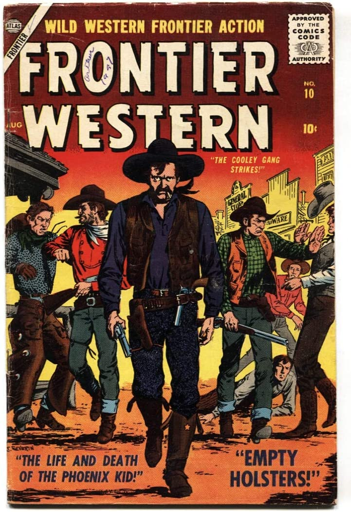 FRONTIER WESTERN excellence #10-SID VG New arrival CHECK-SEVERIN-1957-ATLAS