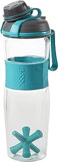 Fit & Fresh JAXX Active Sport Shaker Bottle, BPA-Free Durable Tritan Plastic Water Bottle, 24-ounces, Teal