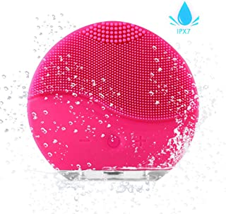 Facial Cleansing Brush AXAYINC Rbber Face Scrubbers Waterproof Silicon Facial Cleaner and Masager Electric Cleansing System for Deep Cleansing Skin Care