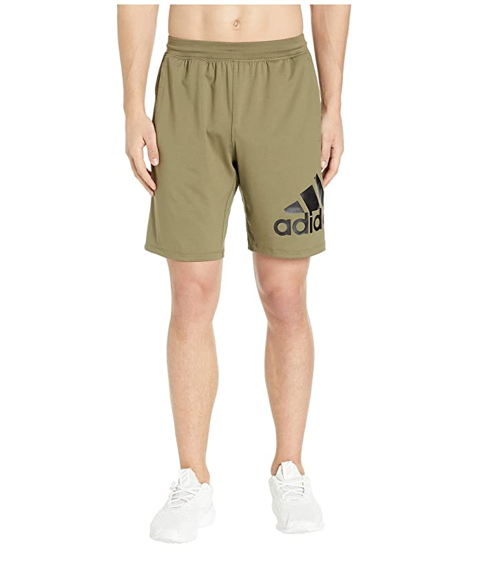 adidas 4KRFT 9 Badge of Sport Shorts (Raw Khaki) Men