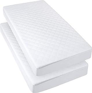 Utopia Bedding Protector de Colchón Impermeable Para Cuna 70 x 132 cm (Juego de 2) - Cubre Colchón Acolchado de Bebé