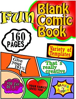 Fun Blank Comic Book for kids, adults, teens and: artists. Stay motivated while you draw your own comics. You can´t see yo...