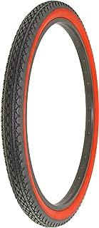 Alta Bicycle Tire Duro 26 x 2.125 Bike Thread Diamond Drizzle Style (Black/Red)