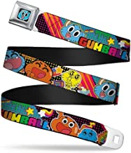 Buckle-Down Seatbelt Belt - GUMBALL Gumball & Darwin Multi Color Collage - 1.5