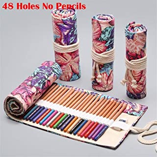 YWSCXMY-AU 12/24/36/48/72 Volume Pencil Case Canvas Pen Bag Cute Big Pencil Case Stationery Bag (Color : Plum)