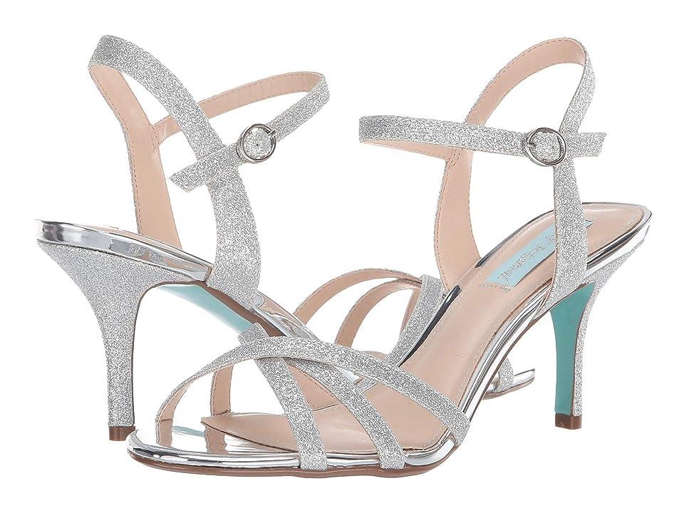 Blue by Betsey Johnson Tyler (Silver Glitter) High Heels