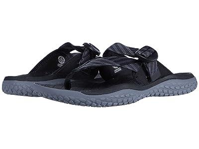 KEEN Solr Toe Post (Black/Steel Grey) Women