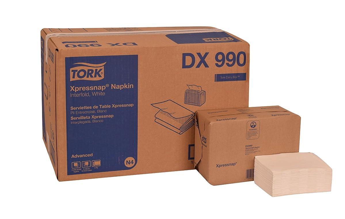Tork DX990 Advanced Plus Xpressnap Dispenser Napkin, Interfold, 2-Ply, 8.5