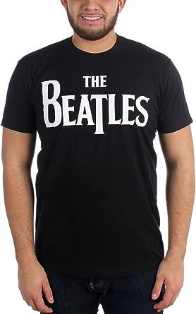 Los Beatles - Logo sólido T-camisa de los hombres