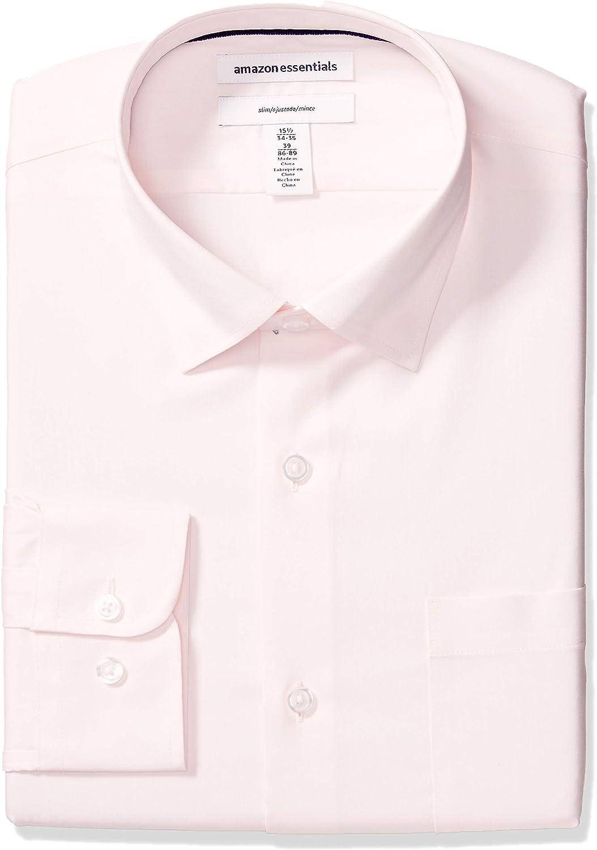 Amazon Essentials 100% quality warranty Men's Slim-fit Stretch Elegant Wrinkle-Resistant Dress