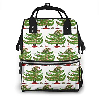 Zombie Christmas Tree Multi-Function Travel Backpack Nappy Bag,Fashion Mummy Bag