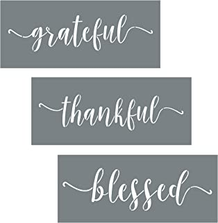 Best thankful grateful blessed wall art Reviews