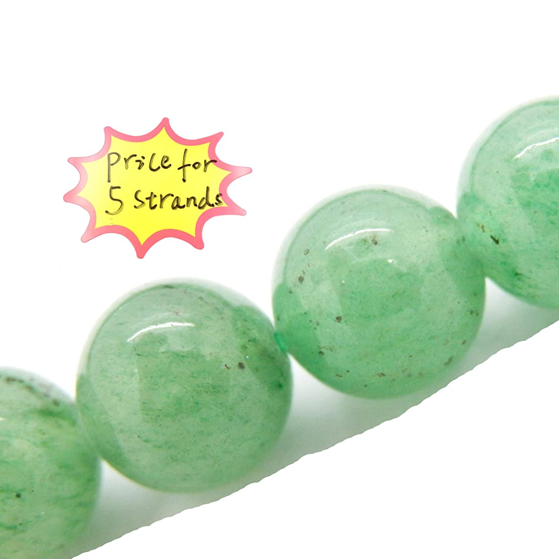 Gemstone Beads for Jewelry Making, Sold per Bag 5 Strands Inside, Green Aventurine 8mm