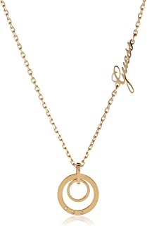 Guess Womens Stainless Steel Fashion Necklace - UBN29035, Color Gold, Size 16-18 Inches