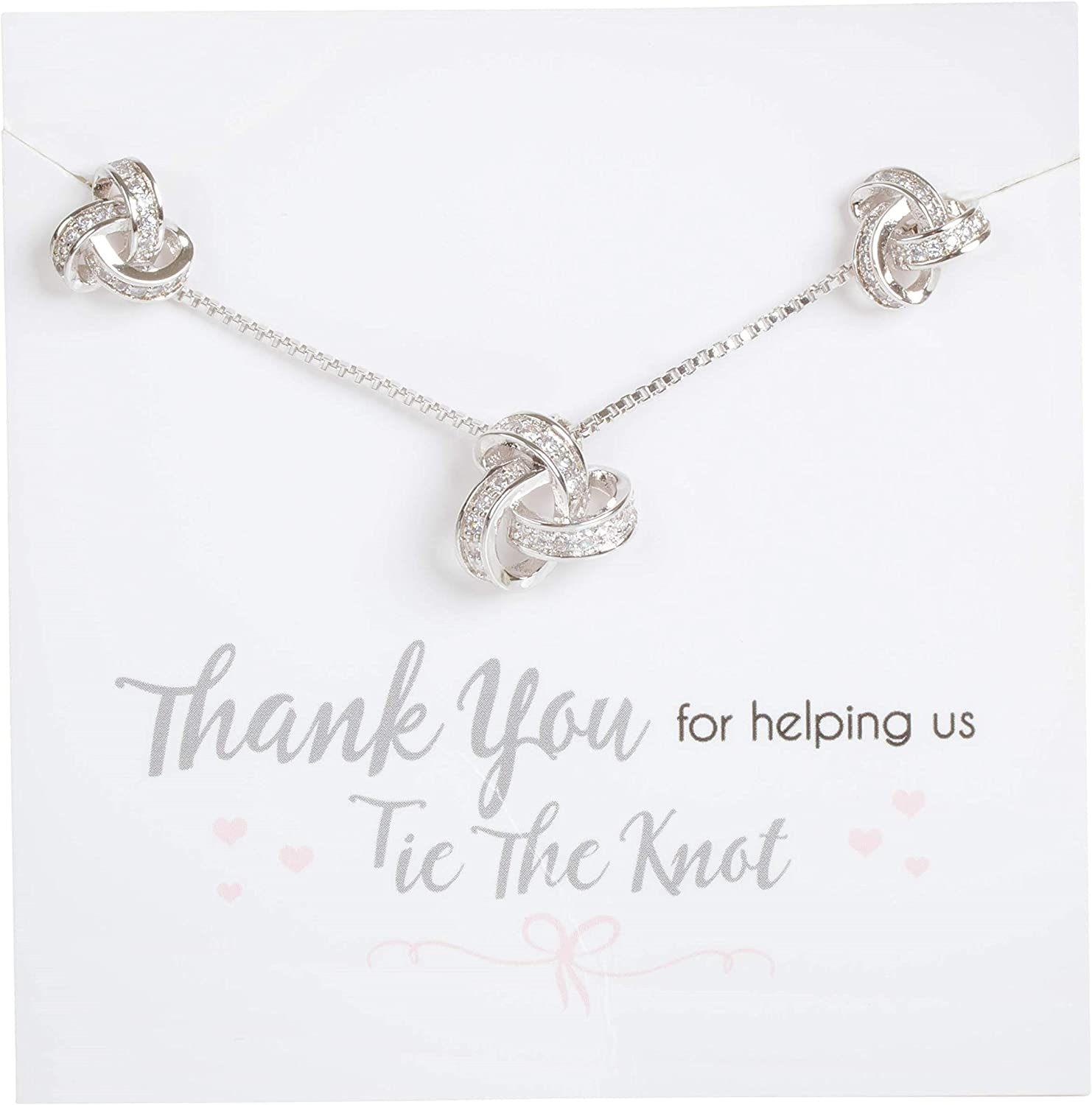 Cleo Classic Designs Bridesmaid Proposal Knot Gift N Earring Japan's largest assortment Max 58% OFF
