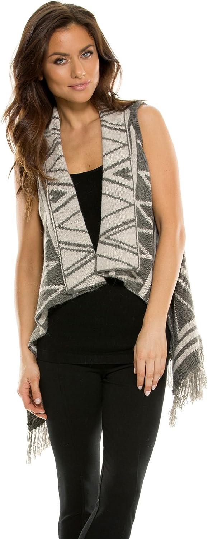 Elan Women's Fringe Reversible Sweater Vest