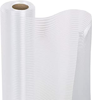 Smart Design Shelf Liner w/Ribbed Grip - Wipes Clean - Cutable Material - Non Slip Design - NSF - for Shelves, Drawers, Flat Surfaces - Kitchen (18 Inch x 4 Feet) [Clear]