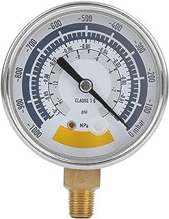 0-14psi Manometer, Manometer Nauwkeurige Luchtmeter Instrument voor Vacuümpomp 0-14psi G1/4in Connector, Voor Thuis Meting...