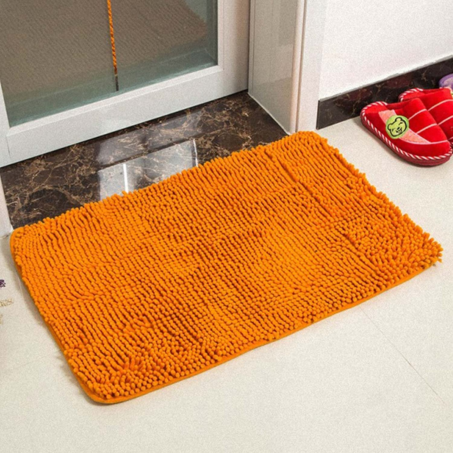Babe MAPS Indoor Outdoor Doormat Entrance Welcome Mat Absorbent Runner Inserts Non Slip Entry Rug Funny Chenille Mat Saffron Yellow Home Decor for Inside shoes Scraper Floor Carpet 31 x62