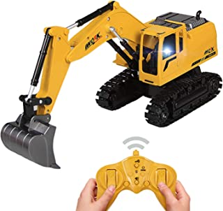 Tuko Diecast RC Excavator Toys 2.4Ghz Remote Control Engineering Construction Truck Toy for Boys Gift