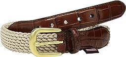 Elastic Cord Croco Tab Taper Belt
