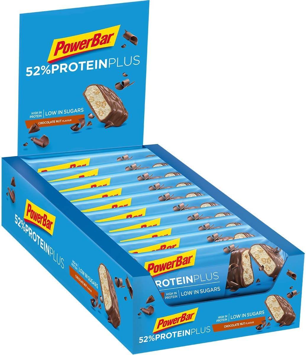 PowerBar Protein Plus 52% Cookies&Cream 20x50g - Barras de Proteína con Bajo Contenido de Azúcar