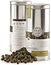 Sponsored Ad - Golden Moon Tea - Jasmine Pearls Tea - Organic - Loose Leaf - Non GMO - 4oz Tin - 48 Servings