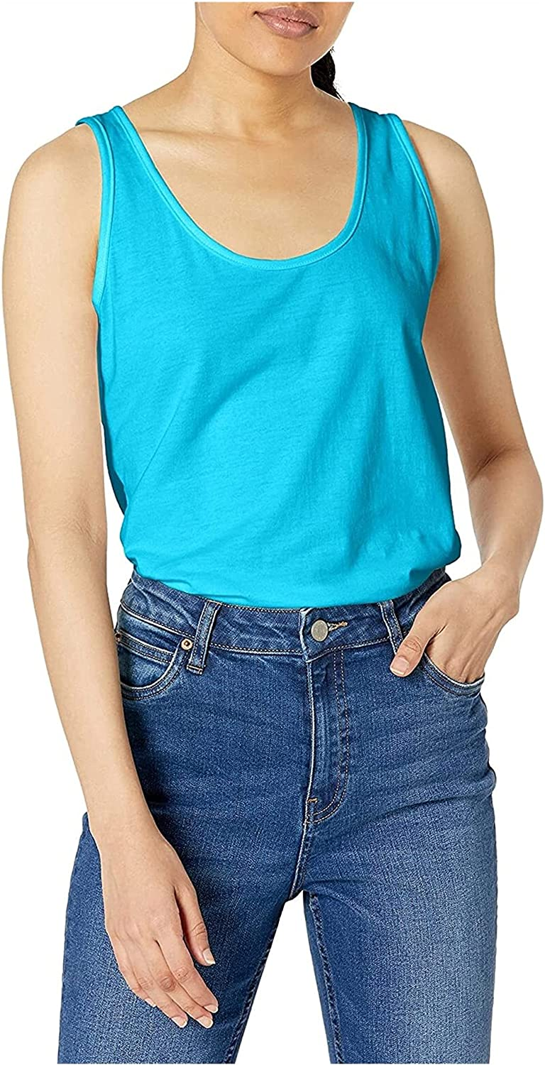 GDYJP Womens Camisole Tops Jacksonville Mall Women's Rapid rise Scoop-Neck Tank Col Solid Top
