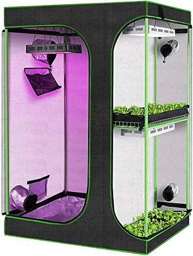 """discount 2-in-1 Grow Tent 3'x2' Plant discount Growing Tents Reflective Mylar Indoor wholesale Plants Hydroponics Growing System with Observation Window and Removable Floor Tray for Indoor Plant Growing (36""""x24""""x53"""") online"""