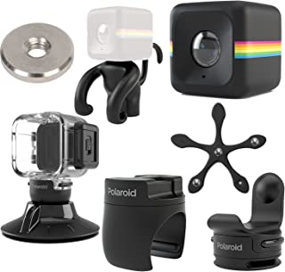Polaroid Cube ACT II HD 1080p Lifestyle Action Video Camera (Black) Gift Bundle + Waterproof Case + Suction Mount + Flexi Pod Mount + Magnet Adapter + Monkey Stand + Bike Mount + Strap Mount