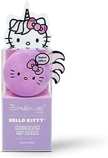 The Crème Shop x Sanrio Hello Kitty Macaron Lip Balm (Hello Kitty Unicorn Rainbow Sherbert) Korean Cute Scented Pocket Portable Soothing Advanced Must-Have on-the-go