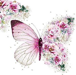 20 servetten sprookjesachtige vlinder als romantische tafeldecoratie 33 x 33 cm