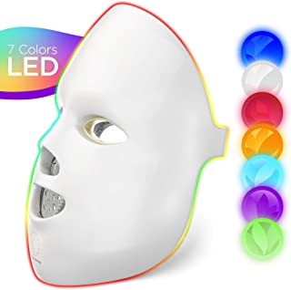 Dermasmoothe Pro 7 Colour LED Face Mask Photon Red Light Therapy For Healthy Skin Rejuvenation Collagen, Anti Ageing, Wrinkles, Scarring Korean Skin Care, Facial Skin Care Mask