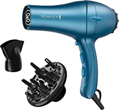 Remington Pro D2042 Professional Titanium Ceramic Hair Dryer with Concentrator and Diffuser Attachments