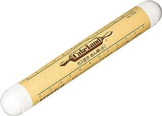 タイガークラウン めん棒 白 250×34mm ガス抜き 小 ABS樹脂 耐熱80度 凹凸加工 7239