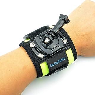 SmilePowo 360 Degree Rotatable Arm Wrist Strap Mount Accessory Kit for GoPro 8 Max 7 6 5 4 3 Hero Black/Hero 2018/Hero Session/Fusion, AKASO Insta360 SJCAM APEMAN Campark YI 4K Action Camera (Green)