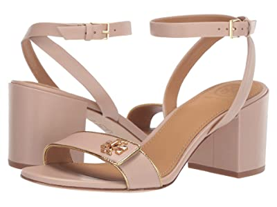 Tory Burch 65 mm Kira Sandal (Light Taupe/Gold) Women