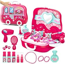 Vikas gift gallery Beauty Make up case and Cosmetic Set Suitcase with Makeup Accessories for Children Girls