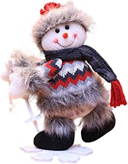 Yesky Cute Skiing Santa Baby Snowman Elk Doll Decoration Toy Doll Gift for Kids Stuffed Animal Figure Christmas Decorations