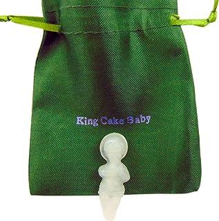 Westmon Works King Cake Sweet Baby Jesus Glow in The Dark Figurine Mardi Gras Mini Figure with Gift Bag