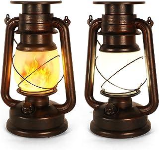 Lanterne Solaire Extérieure, 2 Pièces Lampe Tempete Solaire, Lanterne Solaire Jardin, Lampe Tempete Led, Deux Modes D'écla...