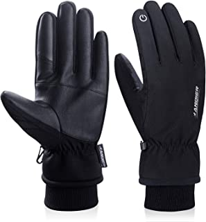 Winter Gloves Men Women Touchscreen Thermal 3M Thinsulate Windproof Cold Weather Gloves for Running Driving Skiing