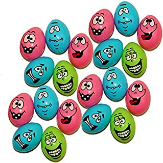 Dazzling Toys 48 Easter Eggs with Funny Faces   Perfect for A Super Egg Hunt   48 Pieces per Pack