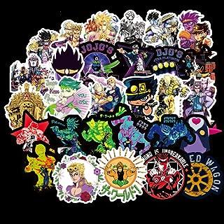 Animation Cartoon Sticker Pack Cool Laptop Sticker Vinyl Sticker Bleach StarWar ONE Piece Dragon Ball Christmas Sticker for Snowboard Waterproof Aesthetic Stickers (50Pcs JoJo's Bizarre Adventure)