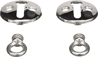 Seachoice 30121 Fender Lock, Stainless Steel, 1 ½-inch Flange, 3/8-inch Interior Diameter of Eye, Pack of 2